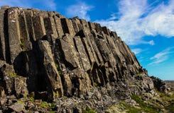 Basaltkolommen in IJsland royalty-vrije stock foto