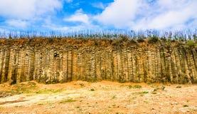 Basalto colonnare di Daguoye, Penghu fotografie stock libere da diritti
