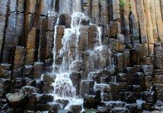 Basaltprismor i hidalgoen, Mexico Arkivfoto