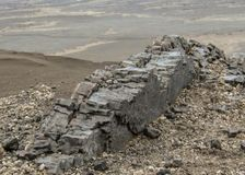Basaltsäulebildung in Askja, Hochländer von Island, Europa stockfotos