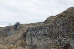 Basaltsäulelandschaft XVIII Stockfotografie