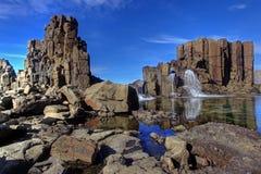 Basaltwände und -spalten Lizenzfreies Stockfoto