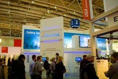 Basamento del Acronis nell'Expo del calcolatore di CEBIT Fotografia Stock Libera da Diritti