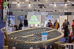Basamento del Bic Lazio alla grande Expo blu del mare, Roma, 2011 Fotografia Stock Libera da Diritti
