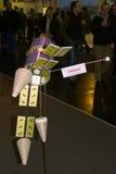 Basamento del Glonass-K nell'Expo del calcolatore di CEBIT Immagine Stock