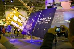 Basamento del Glonass-K nell'Expo del calcolatore di CEBIT Immagini Stock