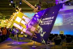 Basamento del Glonass-K nell'Expo del calcolatore di CEBIT Fotografia Stock Libera da Diritti
