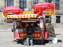 Basamento del hot dog Fotografia Stock Libera da Diritti