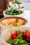 Basamento del mercato del coltivatore Fotografie Stock