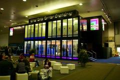 Basamento del Rittal nell'Expo del calcolatore di CEBIT Fotografia Stock