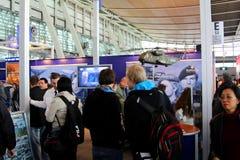Basamento dell'esercito della Germania all'Expo del calcolatore di CEBIT Fotografia Stock