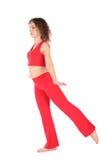 Basamento della ragazza di yoga Fotografie Stock Libere da Diritti