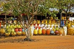 Basamento delle terraglie nel Ghana Africa Fotografia Stock Libera da Diritti