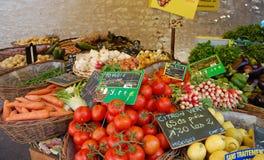 Basamento delle verdure e delle frutta Fotografia Stock