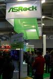 Basamento di Asrock all'Expo del calcolatore di CEBIT Immagini Stock