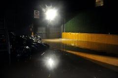 Basamento di costruzione sommerso, causato da Hurricane San fotografie stock libere da diritti
