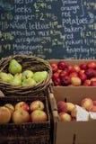 Basamento di frutta Fotografie Stock
