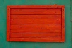 Basamento di legno rosso Immagini Stock