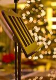 Basamento di musica all'albero di Natale Immagini Stock