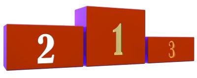 Basamento rosso illustrazione di stock