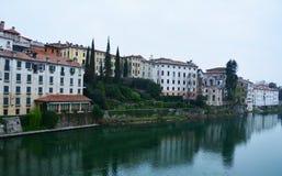 Basano del Grappa和大厦,意大利 免版税库存图片
