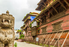 Basantapur Durbar del Nepal Immagini Stock