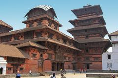 The Basantapur Durbar in the Durbar Square, Nepal Royalty Free Stock Image
