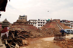 Basantapur Durbar Square after Earthquake Royalty Free Stock Photo