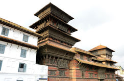 Basantpur tower at Hanuman dhoka durbar Royalty Free Stock Photos