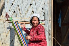 Typical tribal Galo woman in Arunachal Pradesh, India stock photos