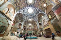 Basar av Kashan, i Iran arkivfoton