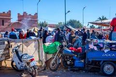 Basar i Marrakech, Marocko Royaltyfri Bild