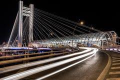 Basarab天桥在晚上 免版税库存图片