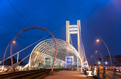 Basarab Bridge, Bucharest stock photo