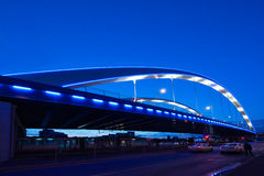 Basarab bridge in the night Stock Photography