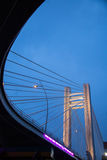 Basarab Bridge by night Stock Image