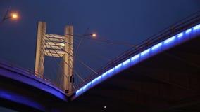 Basarab Bridge by night stock video