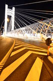 Basarab bridge by night - light architecture Royalty Free Stock Image