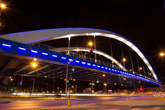 Basarab bridge in the night Stock Image