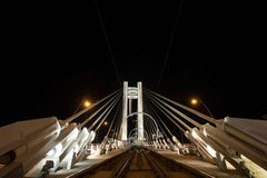 Basarab Bridge, tram railway Royalty Free Stock Photography