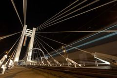 Basarab Bridge and tram railway Royalty Free Stock Photos