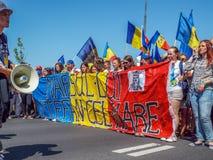 Basarabia και Ρουμανία Μάρτιος για το unification_ στοκ φωτογραφία με δικαίωμα ελεύθερης χρήσης