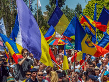 Basarabia and romania march for unification_ Stock Photography