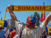 Basarabia and romania march for unification_ Stock Photo