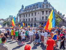 Basarabia and romania march for unification_ Royalty Free Stock Photography