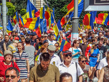 Basarabia and romania march for unification_ Royalty Free Stock Images