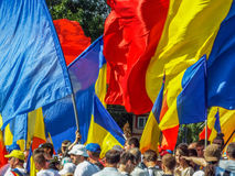 Basarabia and romania march for unification_ Royalty Free Stock Photos