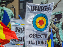 Basarabia and romania march for unification_ Royalty Free Stock Image