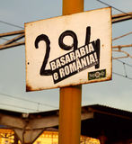 Basarabia is Romania, street banner Stock Photo