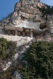 Basarbovo修道院,保加利亚看法  免版税库存照片